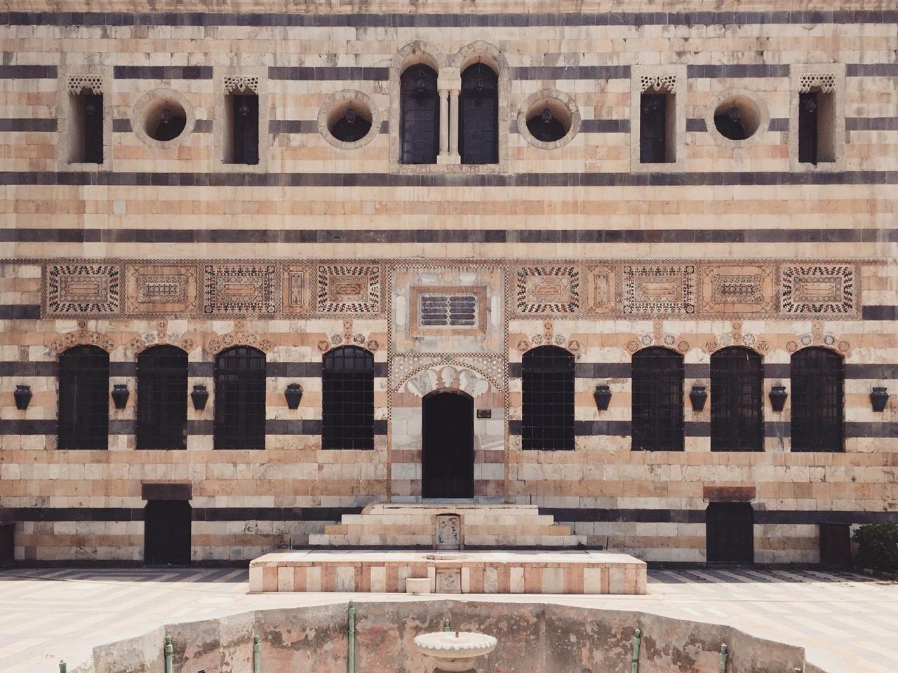 کاخ اعظم از کاخهای تاریخی شهر دمشق