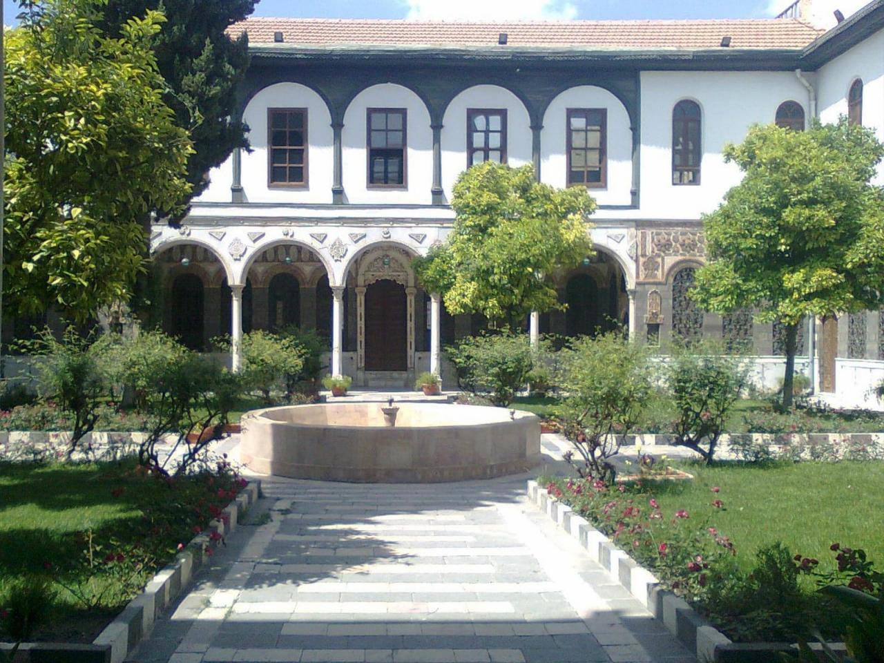 خانه عنبر دمشق از بزرگترین خانههای تاریخی شهر دمشق