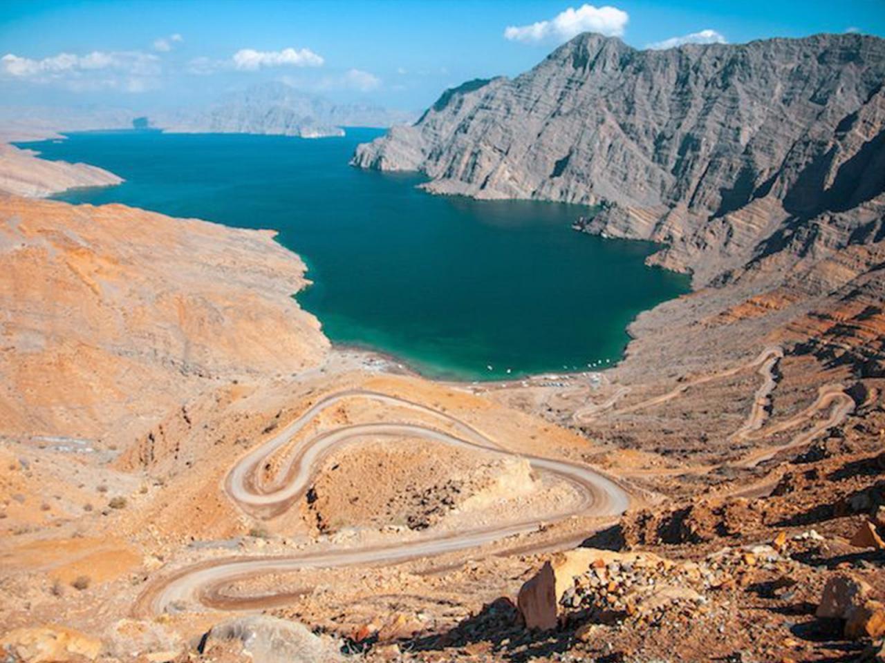 مسَندَم، واقع در بخش شمالی کشور عمان