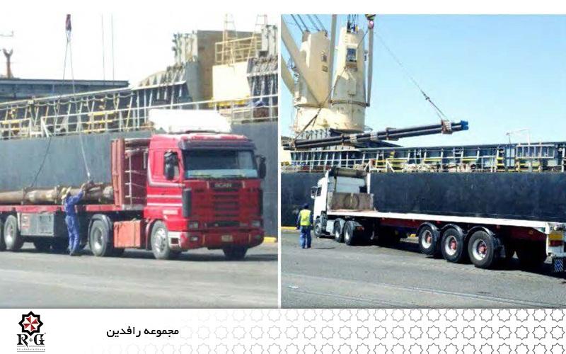 عملیات لجستیک پروژه نیروگاه گازی الصدر 2