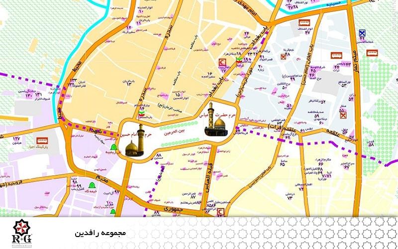 فاصله شهرها و اماکن مقدس عراق